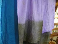 昼夜織りマフラー、絣暖簾、染め - テキスタイルスタジオ淑blog
