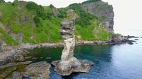 女郎子岩の空撮 - カワセミ王国