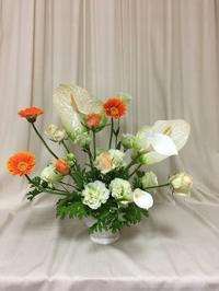 フラワーレッスン  アンスリウムのアレンジ - 犬いる暮らし 花ある暮らし   by イル ドゥ フルール