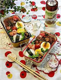 焼きそば弁当と手羽元と野菜のグリル焼き♪ - ☆Happy time☆