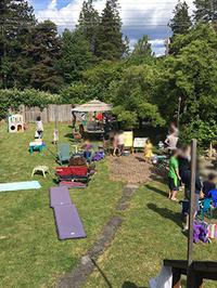 大きな庭でスース6歳+Sっち9歳兄妹の合同誕生会! - くもりのち雨、ときど~き晴れ Seattle Life 3