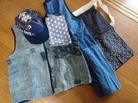 京都の準備 2 - 古布や麻の葉