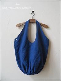 手作り 【オーダー品】リネンの小さな丸底の大きなバッグ♪完成しました** - &m 手作りのキロク。。