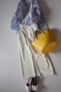 yellowバッグを差しアイテムに - eikoのとことん着回しコーデ服