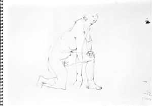《(Moveing)水無月再び――連続する90secondcroquis》 - 画室『游』croquis・ drawing・dessin・ sketch