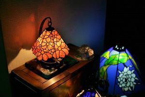 コスモスの小ランプ 完成 - ステンドグラスルーチェの日常