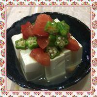 トマトとオクラのポン酢和え冷奴(レシピ付) - kajuの■今日のお料理・簡単レシピ■