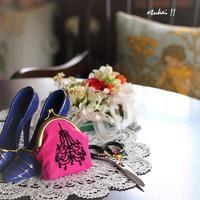 シャンデリアの刺繍 - トールペイントとポーセラーツ アトリエ おつかいサンタさん
