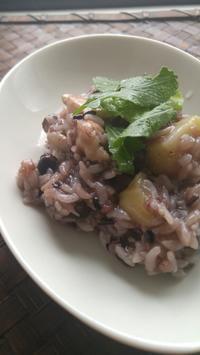 雑穀米入りのリゾット - 料理研究家ブログ行長万里  日本全国 美味しい話