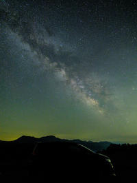 銀河と愛車と高原で - デジタルで見ていた風景