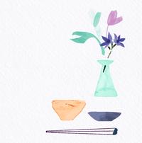 美しい生活と食のイメージビジュアル - 女性誌、web、広告 |美しい女性と花と食のイラストレーション|まゆみん