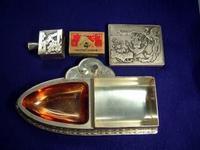 海軍仕様船型煙草入れ灰皿(マッチ付)   - 軍装品・アンティーク・雑貨 展示館