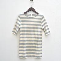素肌に優しい、オーガニックコットン100%のボーダーTシャツ - dia grande by MOUNT BLUE