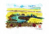 釧路湿原(習作)2017.06.30 水彩画 - ナオキブログ