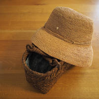 ラフィア帽と山ぶどうのバッグ - * cinqante - サンカント *