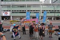 新宿南口街頭宣伝 新宿西口意思表示 - ムキンポの exblog.jp