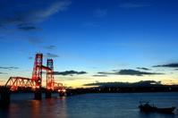 筑後川昇開橋(1)。 - 青い海と空を追いかけて。