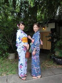 蒸し暑い京都、レトロで爽やかな浴衣で。 - 京都嵐山 着物レンタル&着付け「遊月」