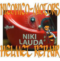 Helmet Repair ヘルメットリペア専門店 AGV X-1 ヘルメット修理店 Niki Lauda ニキラウダ ヘルメット - HELMET REPAIR ヘルメットリペア ニコニコモータース
