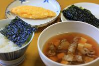 牛肉のスープと韓国海苔な朝餉 - ぶん屋の抽斗