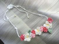 バザー用お花のネックレス - D-E
