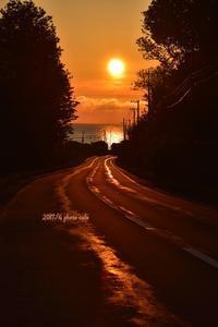 超短い夕陽の道 - north ◆◇photo▼△ cafe