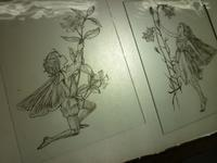 妖精の絵付け - atelier GLADYS  ステンドグラス工房 作り手の日々