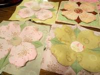 優しいカラーのハナミズキ - eri-quilt日記3
