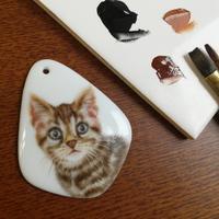 猫のペンダントトップ - ポーセリンペインティング☆ブログ