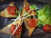 小豆とかぼちゃの春巻きサモサ - ナチュラル キッチン せさみ & ヒーリングルーム セサミ