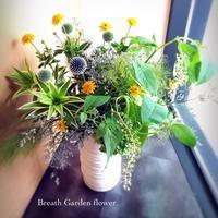 生け込みとリクエストレッスン - 花雑貨店 Breath Garden *kiko's  diary*