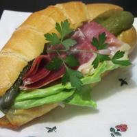 イベリコハムの塩クロワッサン - Mme.Sacicoの東京お昼ごはん