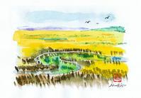 春の釧路湿原2017.07.6 水彩画 - ナオキブログ