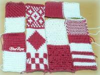 アフガン編みクッション♡表面パーツが編めました♪ - ルーマニアン・マクラメに魅せられて