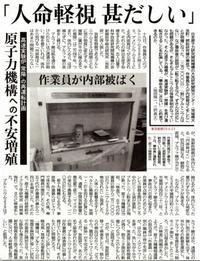 高速実験炉「常陽」の再運転計画 原子力機構への不安増殖 「人命軽視甚だしい」/ 東京新聞 - 瀬戸の風