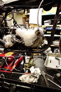 1960NORTON650SS クランク・タイミング周り分解、計測作業 - Vintage motorcycle study