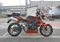 オージー兄ぃ号 ストリートトリプル675のマフラー&リアショック変更!(^^♪ - バイクパーツ買取・販売&バイクバッテリーのフロントロウ!