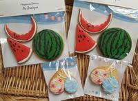 夏らしいアイシングクッキー - 奈良の焼き菓子専門店 幸福スイーツ アルカイック