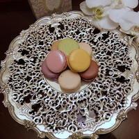 アンティークシルバーの銀器とお花㉒~ラデュレのマカロン♪ - アンティークな小物たち ~My Precious Antiques~