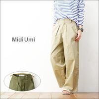 MidiUmi [ミディウミ] wide tucked chino PT [1-762688] ワイドタックチノパンツ ロングパンツ ワイドパンツ LADY'S - refalt   ...   kamp temps