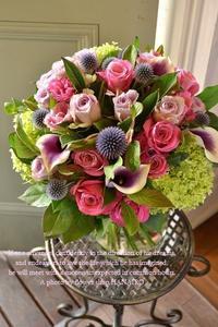 退職される方へ♪送別の花束。 - 花色~あなたの好きなお花屋さんになりたい~
