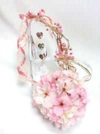 桜のアレンジ/優美な女性 - プリザーブドフラワーアレンジメント制作日記