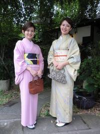 蒸し暑い日なのですが、爽やかなお二人さん。 - 京都嵐山 着物レンタル&着付け「遊月」