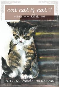 水墨画家 田中芙弥佳個展「 cat cat & cat ?」 - 徒然 シャトン日記