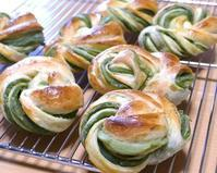 抹茶あんぱん&エダムチーズロール - ~あこパン日記~さあパンを焼きましょう