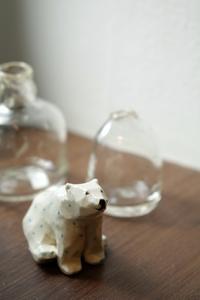 かわいいクマがお出迎え♪ - Silver clay Ru*  手軽にできるシルバーアクセサリー