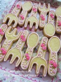 フォーク&スプーンアイシングクッキー - nanako*sweets-cafe♪