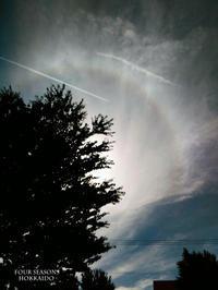 ハロとヒコーキ雲 - ekkoの --- four seasons --- 北海道