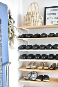 ■玄関の、下駄箱の棚板DIY。■ - OURHOME