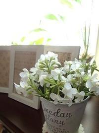 額縁と布花のグリーンコーナー - handmade flower maya